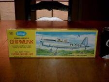 DE HAVILAND DHC-1 CHIPMUNK, GUILLOW'S BALSA WOOD FLYING RUBBER POWER MODEL KIT,