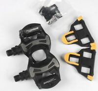 Shimano Road Bike PD R550 SPD SL Clipless  Road Pedals 6° Float Cleats Black NEW