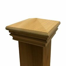 """Cedar Pyramid Wood Post Cap for 3.5"""" x 3.5"""" Fence and Deck Posts"""
