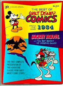 Best Of Walt Disney Comics MICKEY MOUSE Bat Bandit Of Inferno Gulch 1934 VF+