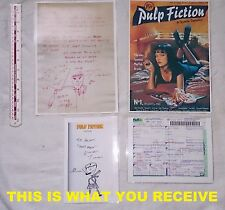 Quentin Tarantino Hand Written & Signed Letter.  *PRINT OF ORIG*  Pulp Fiction