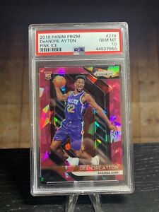 Deandre Ayton Panini Prizm Pink Cracked Ice PSA 10 Rookie RC 2018 NBA