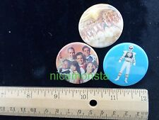 Power Rangers Mighty Morphin Novelty accessory item PINBACK BUTTONS lot of 3 B