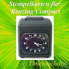 Stempelkarten für BENZING Compact