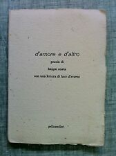 D'amore e d'altro poesie di Beppe Costa Ed. Pellicanolibri 1997