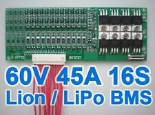 3pcs 60V 16S 45A Li-ion Lithium Battery Protection Board BMS PCB System