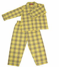 PYJAMA SUIT 100% COTTON  AMERICAN YELLOW CHECKS 7-10YR