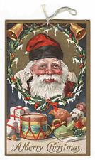 Santa Toys Drum Christmas 1910c postcard