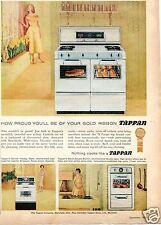 1958 Tappan Gold Ribbon Oven Range Print Ad