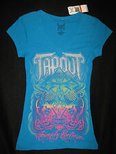 JUNIOR'S LARGE - TapouT Forever - Simply Believe Turquoise Graphic Tee T-SHIRT