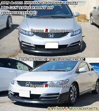 Mu-gen Style Front Lip (Urethane) Fits 09-11 Honda Civic 2dr