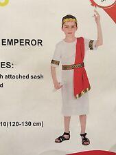 Children's Roman Emperor Boys Costume Julius Caesar King Party Greek Toga Outfit