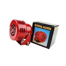 12v Car Truck Motorcycle Driven RED Air Raid Siren Horn Alarm 50's