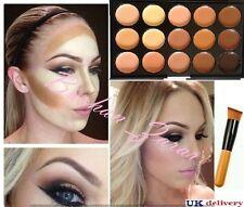 15 Colori Tavolozza di correttori KIT CON PENNELLO Viso Makeup CONTOUR CREMA, tavolozza # 2