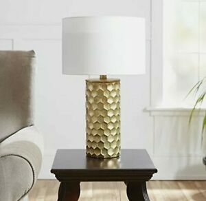 "Silverwood CPLT1367-COM The Hive Gilded Table Lamp with Shade 21""H Gold"