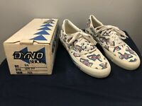 Old School BMX/Freestyle MENS DYNO LOW TOPS Shoes Size 8 1/2 DYNO FISH DESIGN
