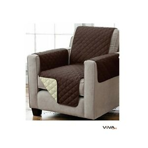 Reversible Seat Cover Sofaschoner Sesselschutz with Armrests & Bags 75 3/16x65in
