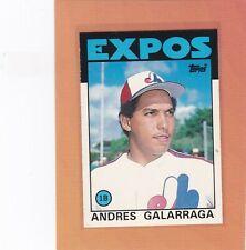 1986 TOPPS BASEBALL ANDRES GALARRAGA ROOKIE #40T EXPOS NRMT *64436
