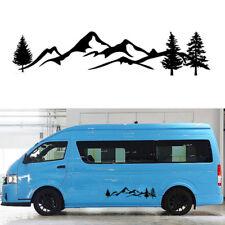Top 100cm Mountain Tree Decal Scene Large Northwest Car Sticker Truck RV Offroad