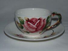 VINTAGE REGAL ESD PY ROSE AMERICANA RARE LEFTON JAPAN TEA CUP & SAUCER SET