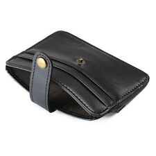 Alta calidad de cuero de lujo para hombre Negro Delgado Cartera soporte tarjeta de crédito ID De Regalo