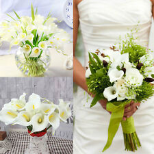 10Pcs Artificial Real Touching Calla Lily Flower Wedding Home Sofa Decor set
