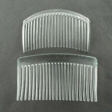 50 Bulk Brand New Plastic Hair Combs Findings Clear 84x52mm (PHAR-R017-2)