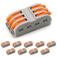 10pc Compact 3-Pin Quick Wiring Splice Connectors For Car Truck SUV LED Lightbar
