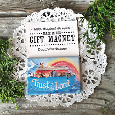 DecoWords Fridge Magnet Noah Ark MAGNET Trust in Lord Christian Faith Cross God