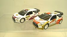 2pc SCX 1/32 Slot Car Rally Racers CITROEN DS3 WRC Abu Dhabi #1 Qatar #7-NICE!!