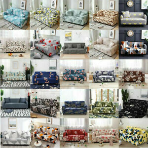 1 2 3 4 Seater Elastic Stretch Sofa Cover Slipcover Couch Lounge Protector Decor
