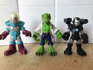 Playskool Imaginext War Machine, Mr. Freeze, & Lizard