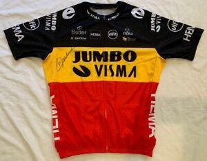 Wout van Aert signed 2021 Team Jumbo Visma Belgium champ cycling jersey *PROOF*