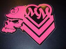 """METAL MULISHA Heart Glitter Skull Skate Sticker 5.5"""" motocross skateboard decal"""