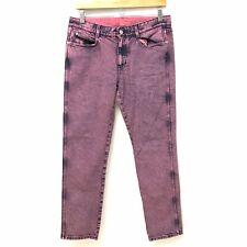 Stella McCartney Womens 28 Boyfriend Straight Leg Pink Wash Colored Denim Jeans