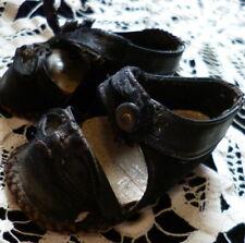 "Wonderful Antique Vintage Leather Doll Shoes 3"""
