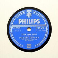 """MARLENE DIETRICH """"Time for love/regarde-moi sur étroitement"""" (E +) Philips PB-291 [78]"""