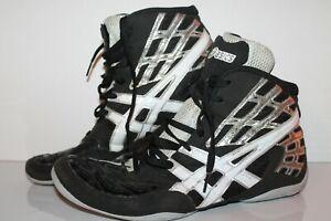 ASICS Split Second 9 Wrestling Shoes, #J230Y, Black/White/Silver, Men's US 11