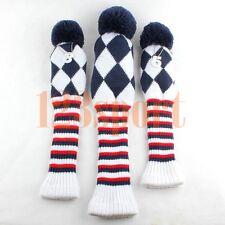 Wool Knitt Golf Driver Fairway Headcovers Set For Taylormade SLDR M1 M2 R1 R9 R7