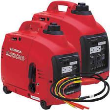 Honda EU1000 Inverter Generators (2) and Parallel Cable Kit