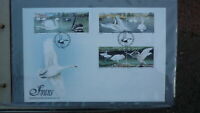 ISLE OF MAN STAMP ISSUE FDC, 1991 SWANS STAMP ISSUE SET OF 6 STAMPS
