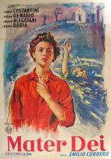manifesto 4F originale MATER DEI Giorgio Costantini Miriam De Majo 1951