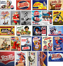 25 Fridge magnets - Pepsi-Cola vintage advertising