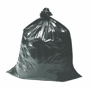 100 x Heavy Duty 200 gauge black refuse sacks/rubbish/bags strong/long 18x29x39