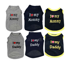 Teacup Chihuahua Size XSmall I LOVE DADDY MOMMY T Shirt, Puppy Dog Clothing Cat