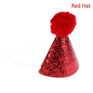 Pet cat dog happy birthday hat party crown & bow tie soft cap puppy headwear SC