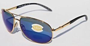 COSTA DEL MAR Wingman 580 POLARIZED Sunglasses Gold/Blue Mirror 580P NEW $219