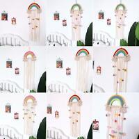 AU_ BU_ Lovely Rainbow Hairpin Hair Clip Holder Storage Organizer Room Hanging O