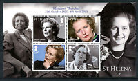 St Helena 2013 MNH Margaret Thatcher in Memoriam 4v M/S Politicians Stamps