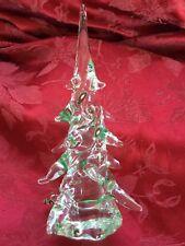 FLAWLESS Stunning MURANO Italy Art Glass Tier Millefiori Crystal CHRISTMAS TREE